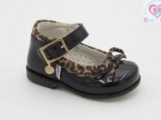 Официални обувки за бебе момиче MELANIA с леопардова декорация