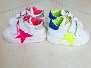 №18, FALCOTTO, Бебешки обувки от Естествена кожа с цветна звезда
