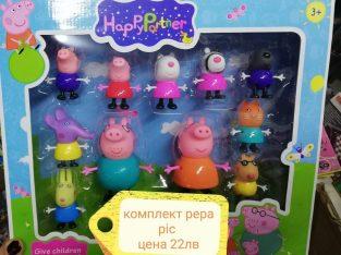 комплект peppa pig и приятели